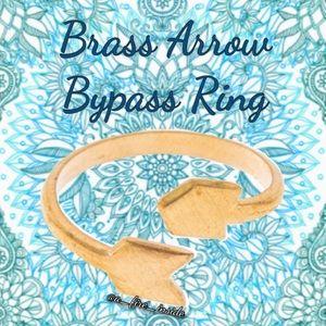 Boho Gypsy Adjustable American Brass Arrow Ring